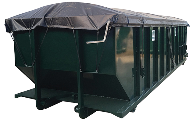 Open Top Sealed Tailgate Tarp System Custom Container